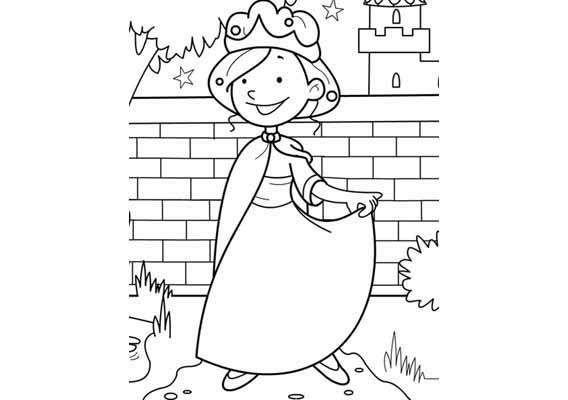 Kleurplaat Prinses kasteeltuin  Kleurplaten  Pinterest