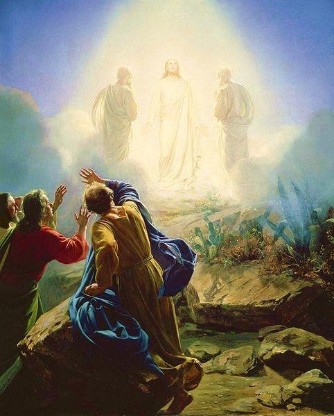 the Transfiguration: 1st example of communion of saints.....