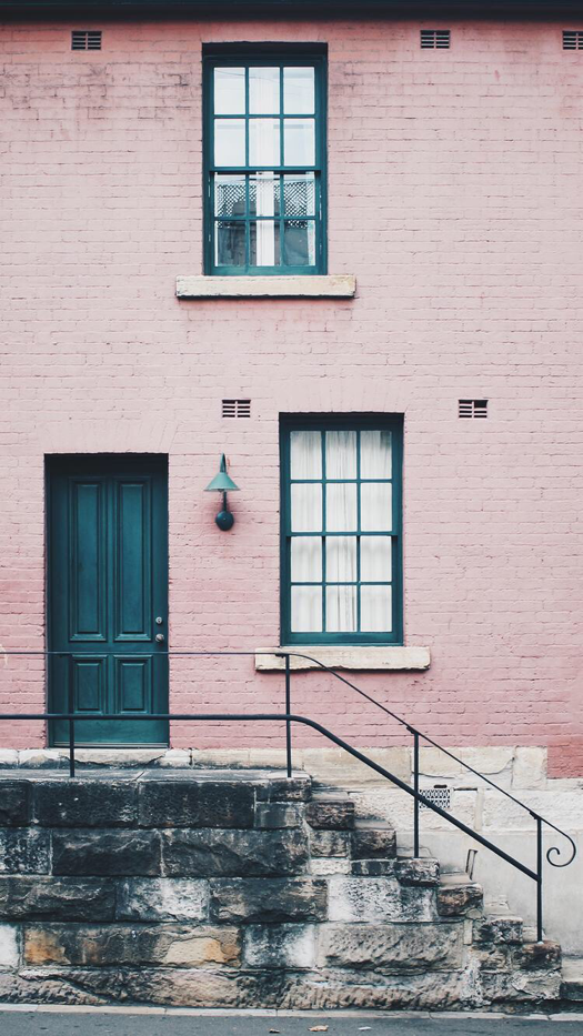 Pink House Wallpaper for iPhone