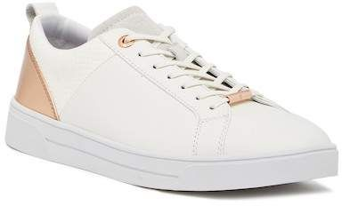 5eb956bd911b Ted Baker London Kulei  White  Rose  Gold  Sneakers. Leather upper ...