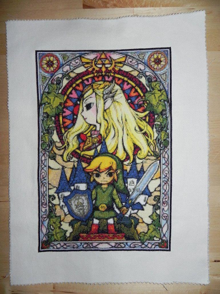 Legend Of Zelda Stained Glass Cross Stitch On Global Geek