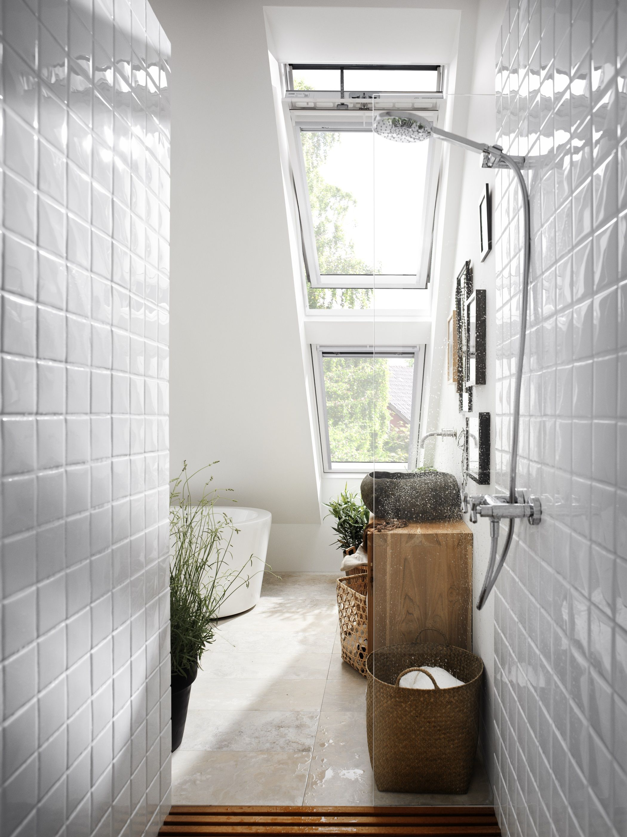 Stunning Loft Conversion With Roof Windows And Natural Light In The Bathroom Loft Conversion Design Your Dream House Velux