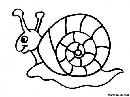 printable coloring pages animal snails for kids printable coloring pages for kids - Printable Coloring Pages Kids