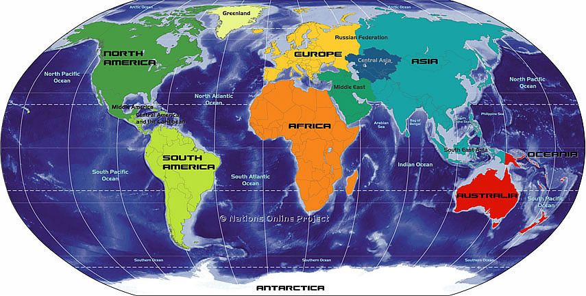 Goal is to visit all 7 continents 3 down (N America, Europe \ Asia - copy world map of america and europe
