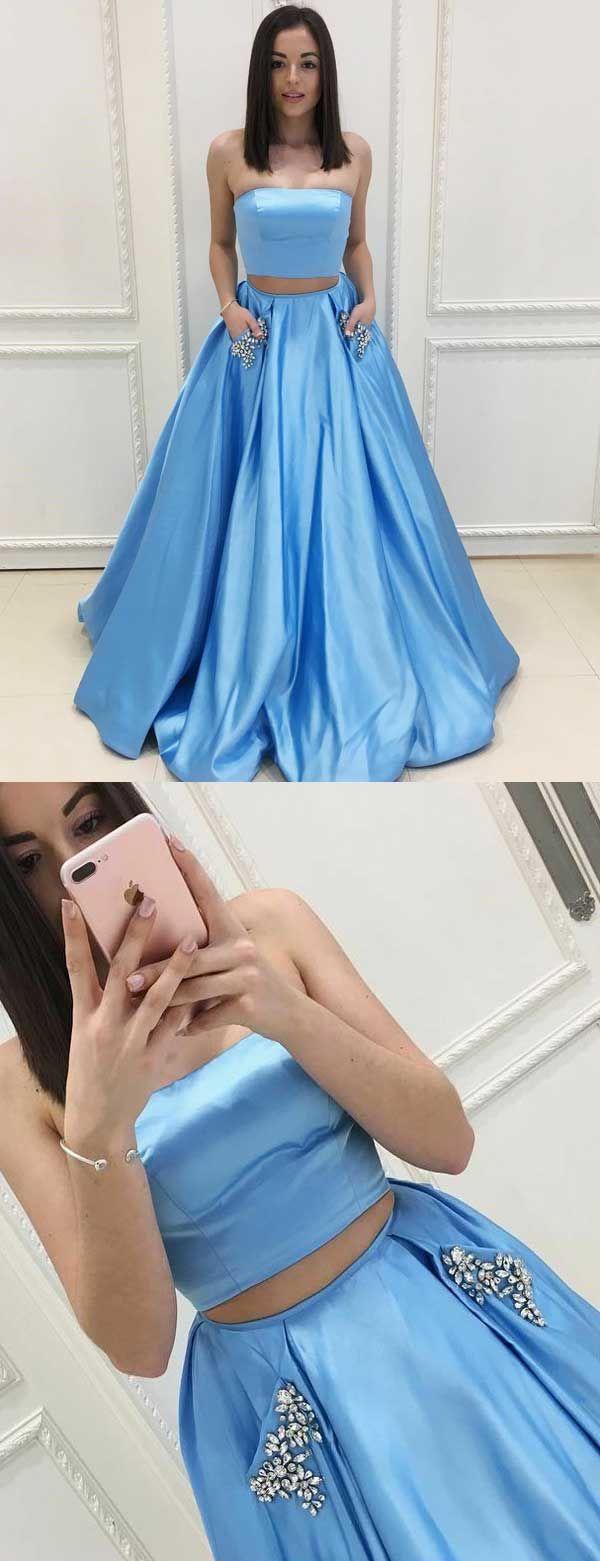 elegant prom dresses,two piece prom dresses,strapless prom dresses ...