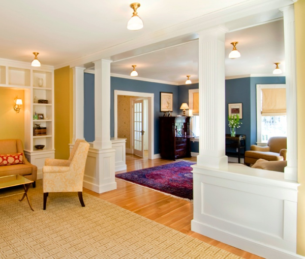 We Built Some Half Walls Below To Divide The Large Parlor Into Two Rooms Which In Fact Was