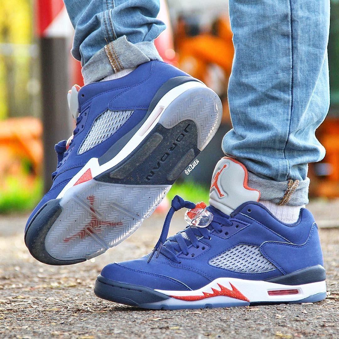 "Air Jordan 5 Retro Low ""Knicks"" Air jordan sneakers, Air"