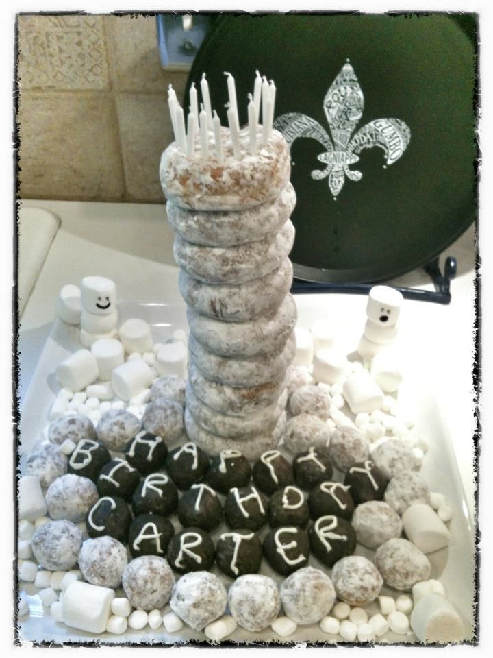Donut Tower Cake! I love this family!! <3