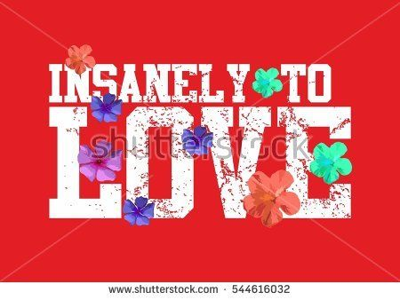 flower and love  graphic design vector art