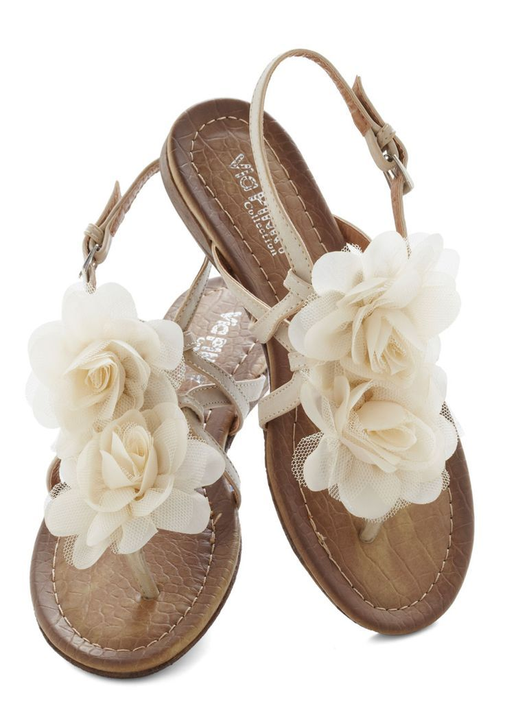 6a5a1f2fb Fabulous white flower design summer sandals for ladies... click on picture  for more fashions