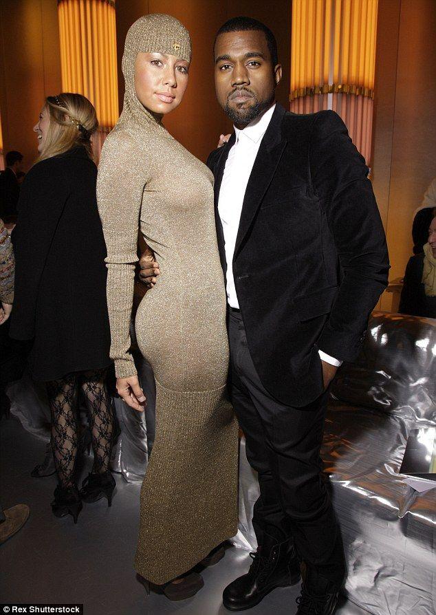 Former love Amber Rose and Kanye West Amber rose kanye