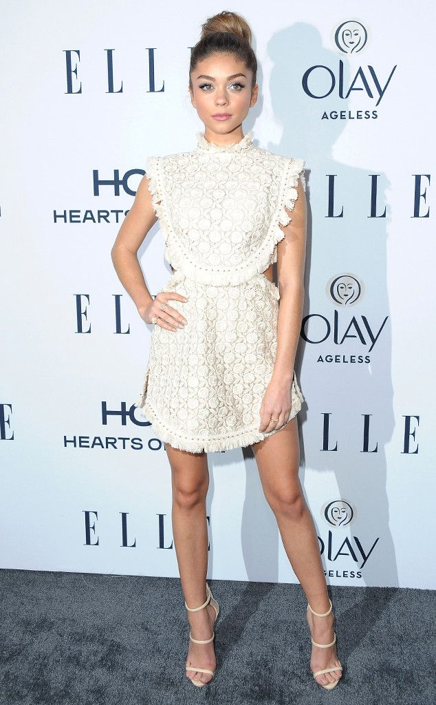 Sarah Hyland from The Best of the Red Carpet  The starlet flawlessly showcased one of Spring's up and coming trends in this crochet mini dress by Zimmermann.