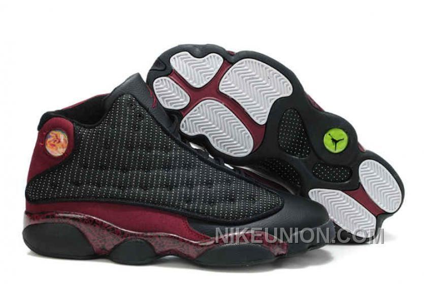 ad2c80d35471 Air Jordan 13 New Colors Black Deep Red Sport Shoes Sizes   - Cheap Jordan  Shoes