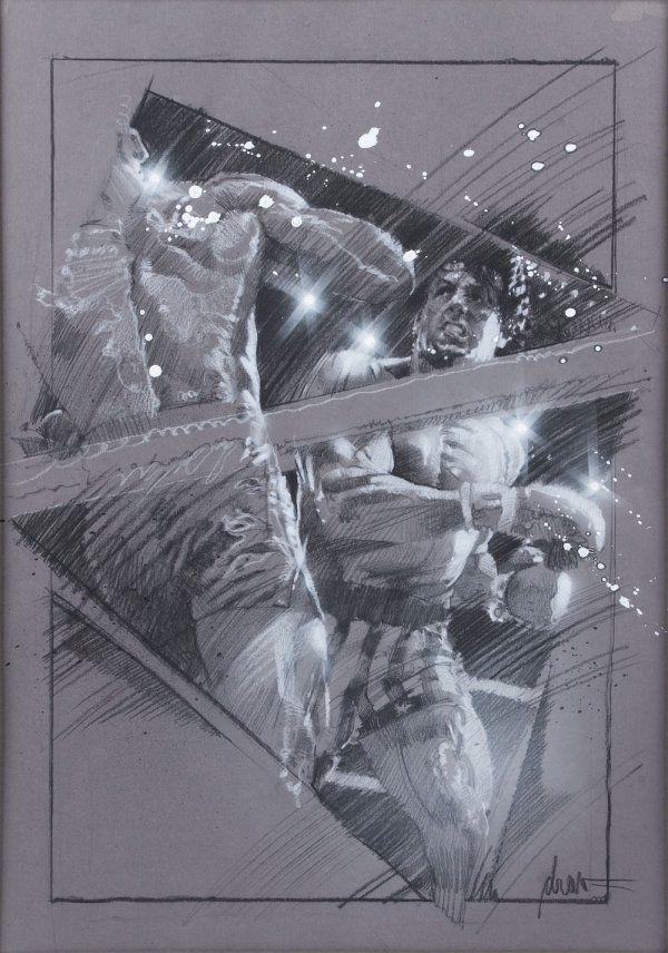 Drew Struzan poster concept artwork from Rocky IV