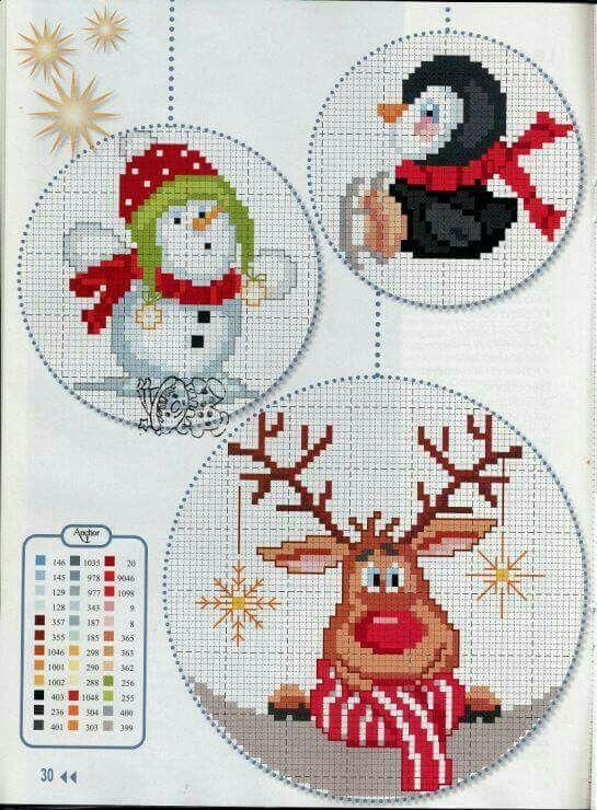 Bordados   Navidad   Pinterest   Bordado, Punto de cruz y Puntos