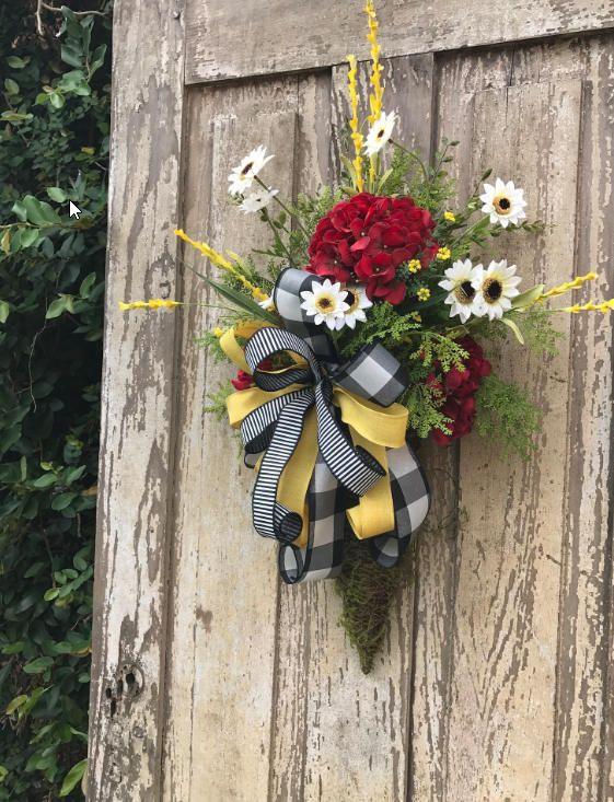 Hydrangea Wreath, Hydrangea Door Wreath, Summer Wreath, Wreath For Front  Door, Summer Swag, Double Door Wreath, Front Door Wall Cone, Wall Sconce,  ...
