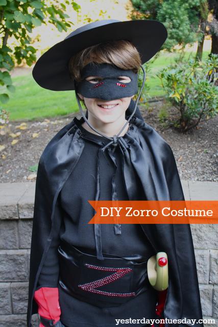 DIY Zorro Costume   Yesterday On Tuesday