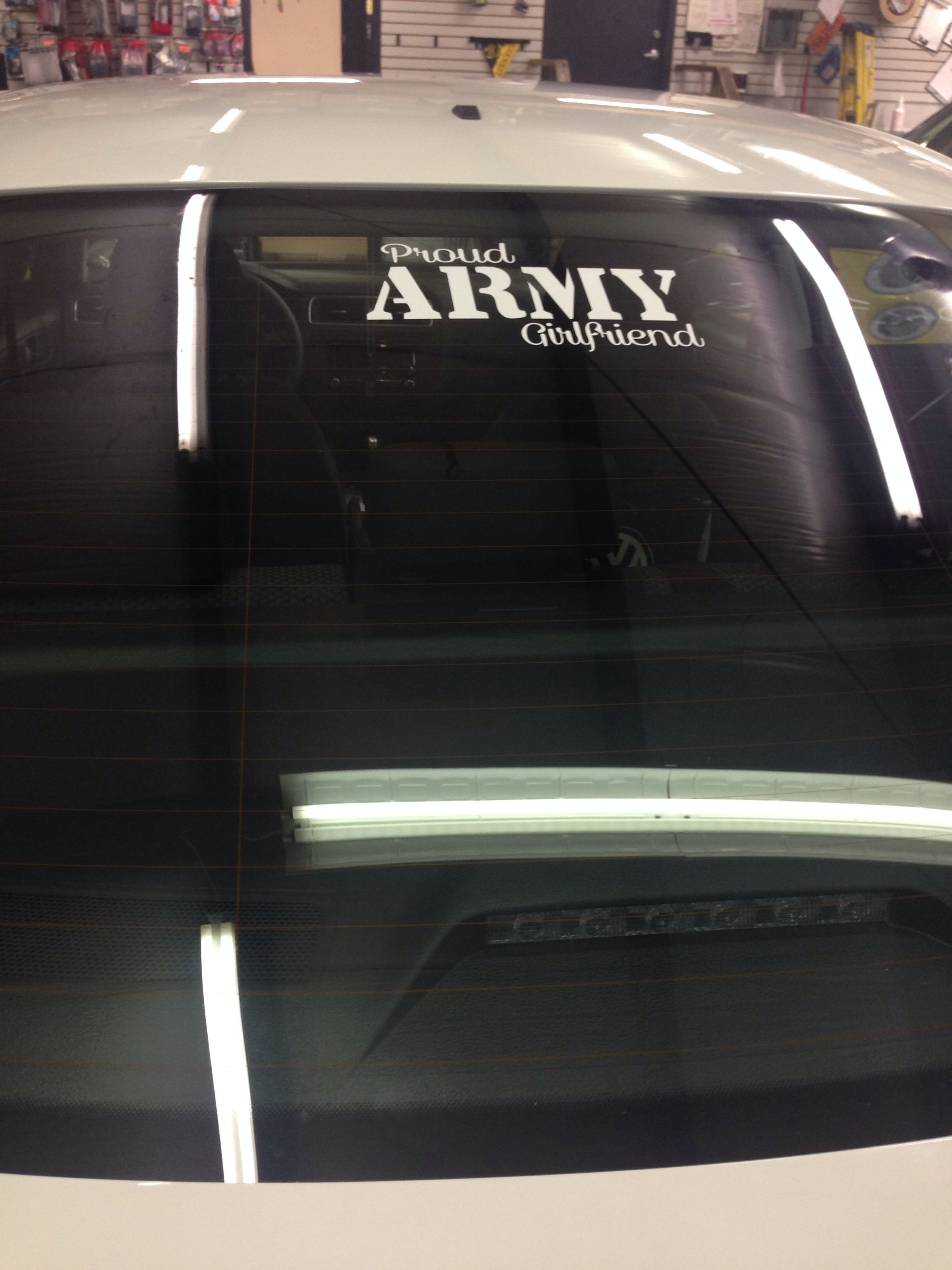 Proud army girlfriend decal!