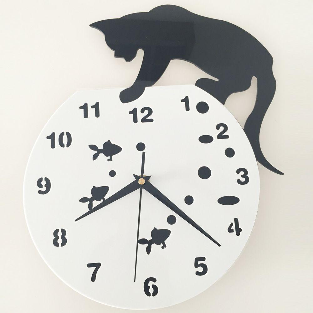 Relojes Para Salon En 2020 Relojes De Pared Pared Para Gato Pared Vacia