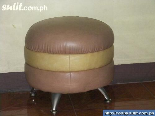 Leather Burger Stool