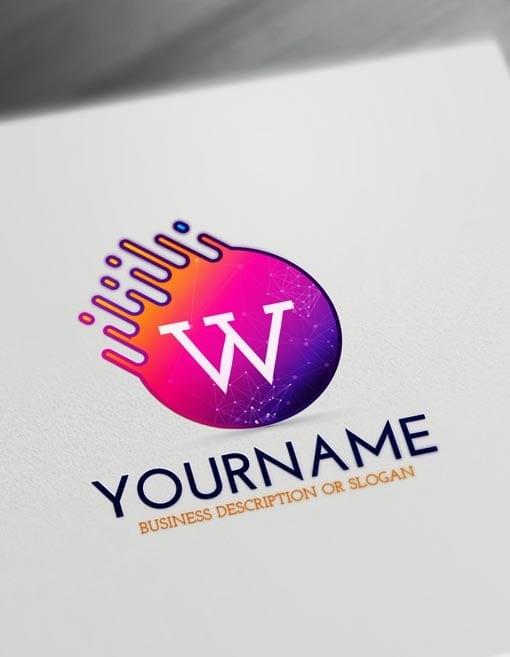 Free Letters Logo Maker Modern Digital Logo Creator Letter Logo Maker Logo Design Typography Letter Logo Design
