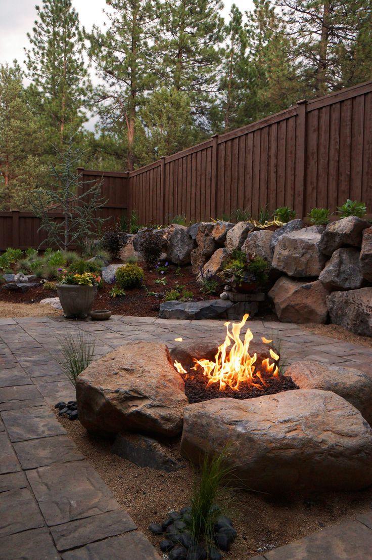 Boulder Fire Pits Google Search Outdoors Pinterest Backyard Cheap Fire Pit Backyard Fire
