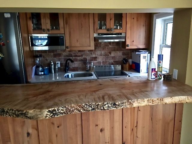 Maple Bar Top Wood Countertops Wood Slab Countertops