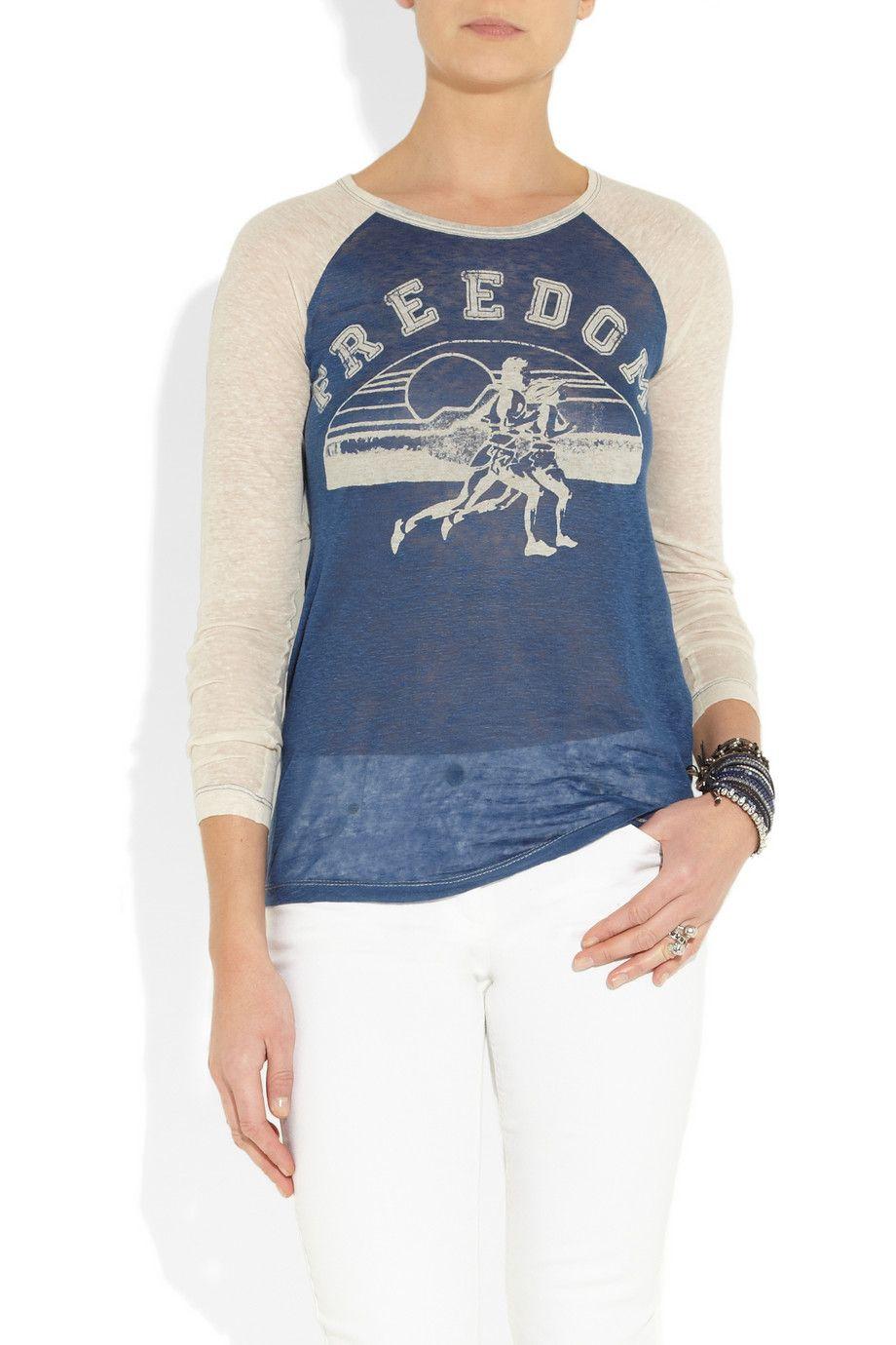 d0425f83738 Étoile Isabel Marant Reed printed slub linen-jersey top.   I want ...