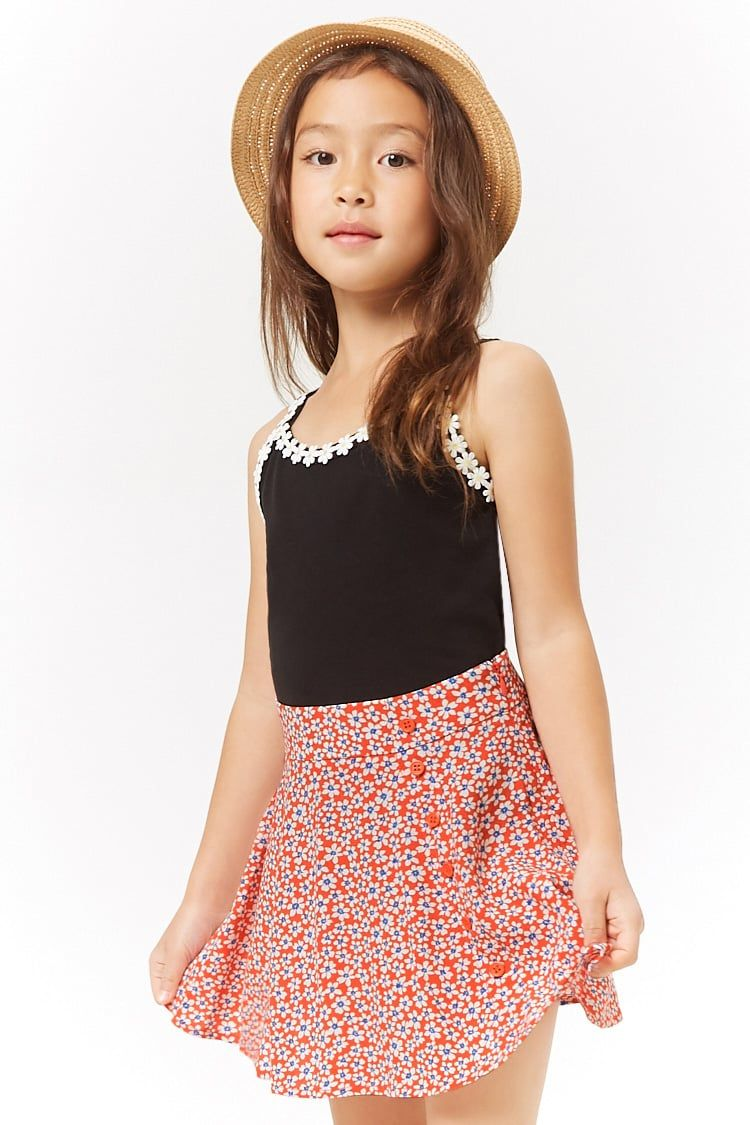 b9d0f5e8df Girls Ditsy Floral Mini Skirt (Kids) #Affiliate , #Ad, #Floral ...