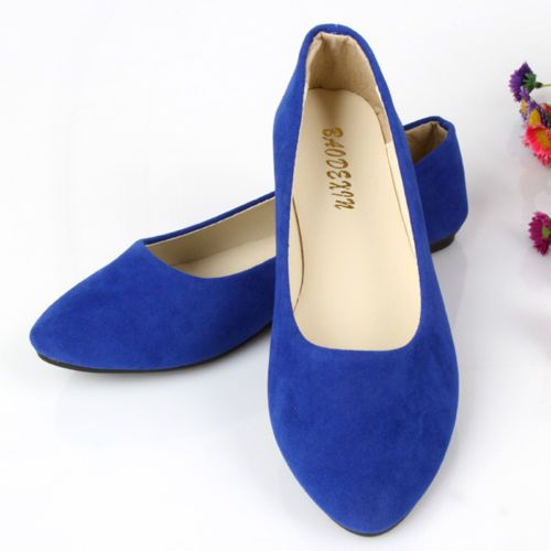 New-Women-039-s-Suede-Boat-Shoes-Casual-Slip-On-Flats-Loafers-Ballerina-Ballet-Shoes