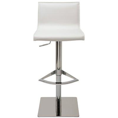 Nuevo Colter Adjustable Height Swivel Bar Stool Upholstery White Swivel Bar Stools Bar Stools Counter Bar Stools