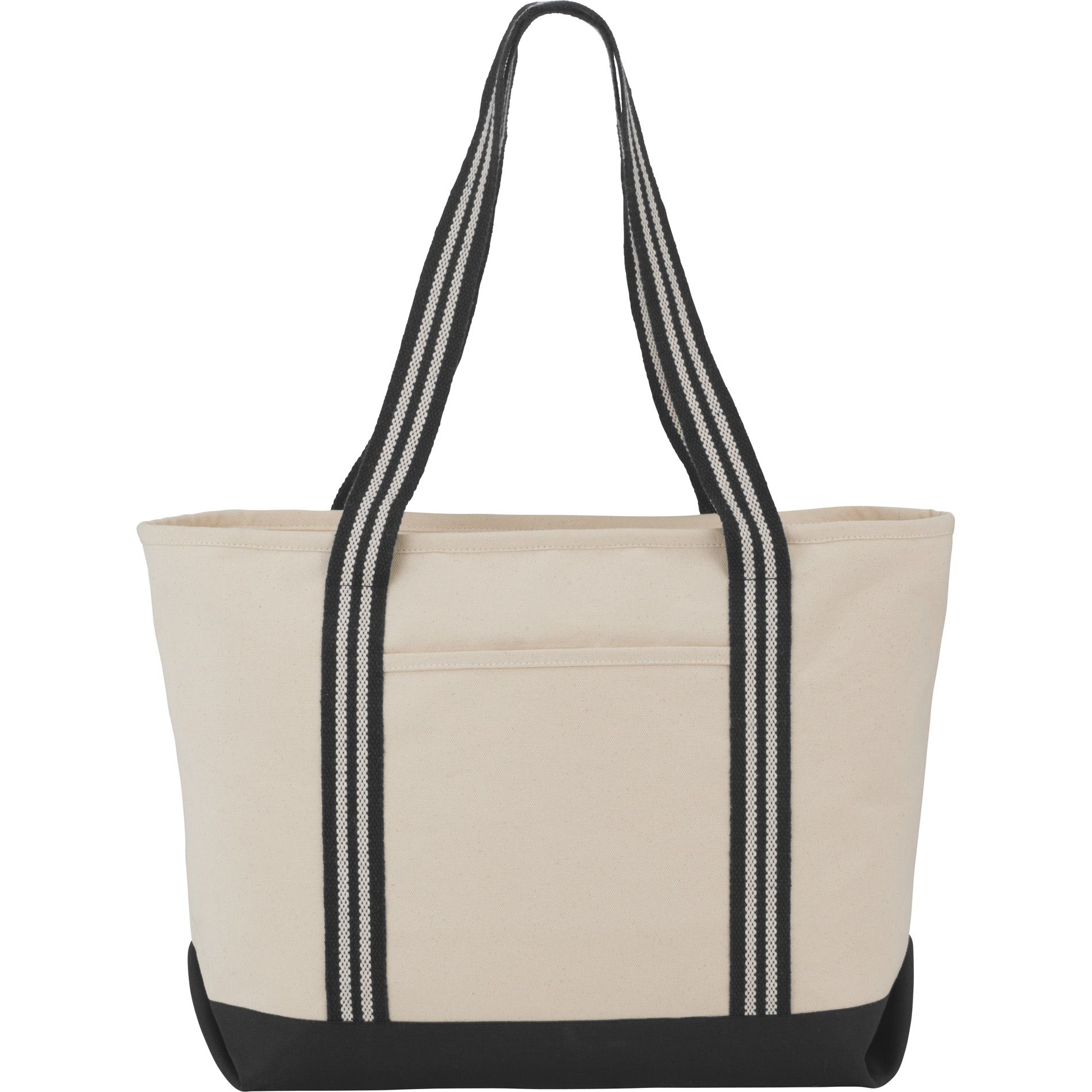 The Stripe Handle 20oz Cotton Canvas Zippered Boat Tote is made from  durable material and features 3e263c8399512