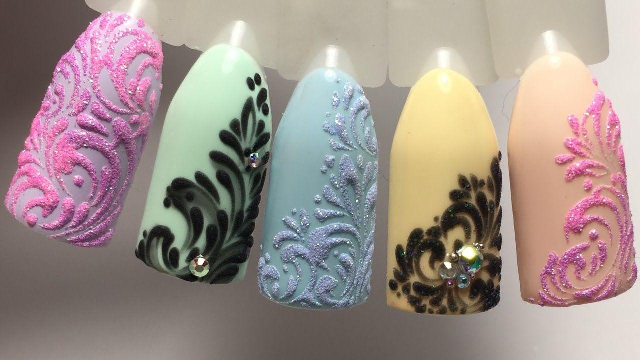 Рисуем вензеля. Дизайн ногтей | Маникюр, педикюр | Ногти ...