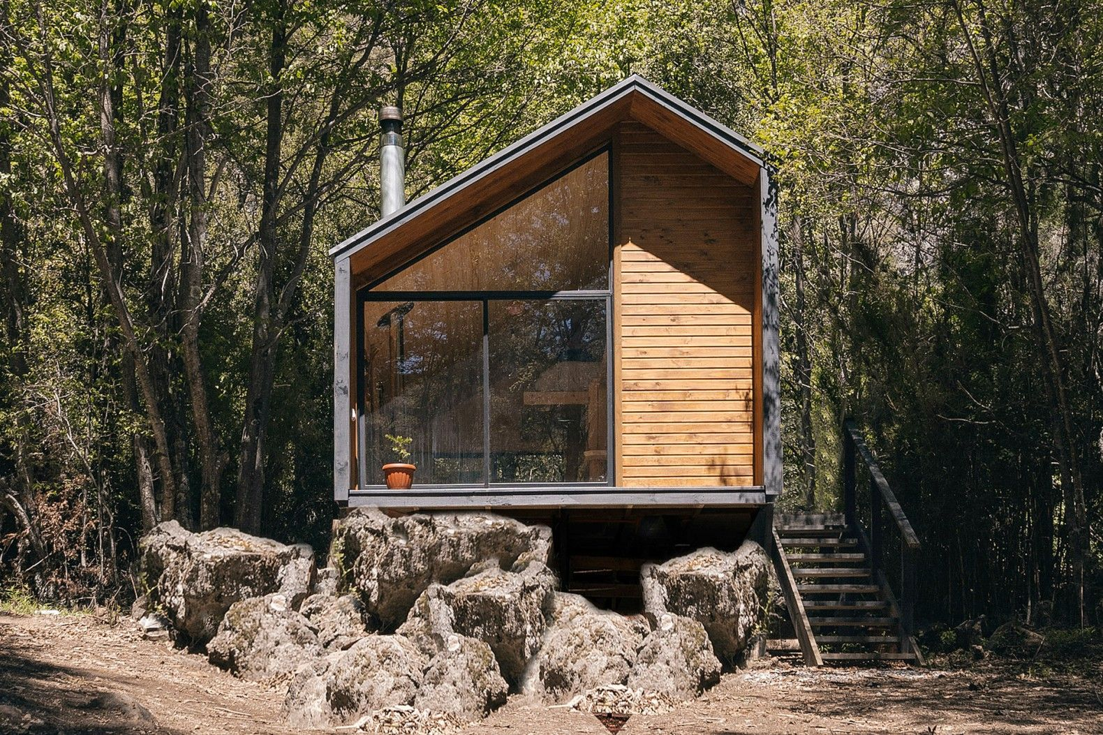 4fd99440fd Minimalist cabin in the Chilean mountains lets climbers escape the daily  grind