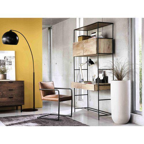 Bureau haut en mtal noir L 120 cm Shelves Pinterest Shelves