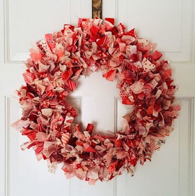 Photo of Scrappy Fabric Wreath Perfect for every season!