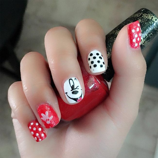 awesome-red-and-white-nail-polish-for-kids | Nail Art | Pinterest ...