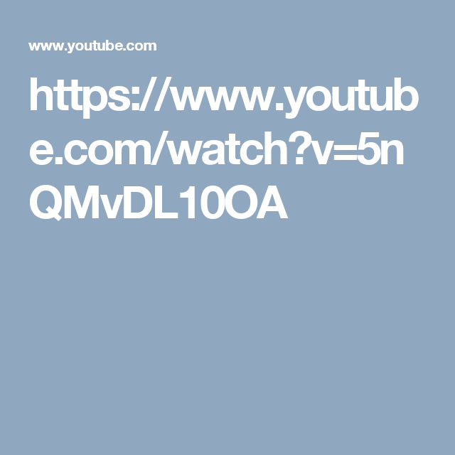https://www.youtube.com/watch?v=5nQMvDL10OA