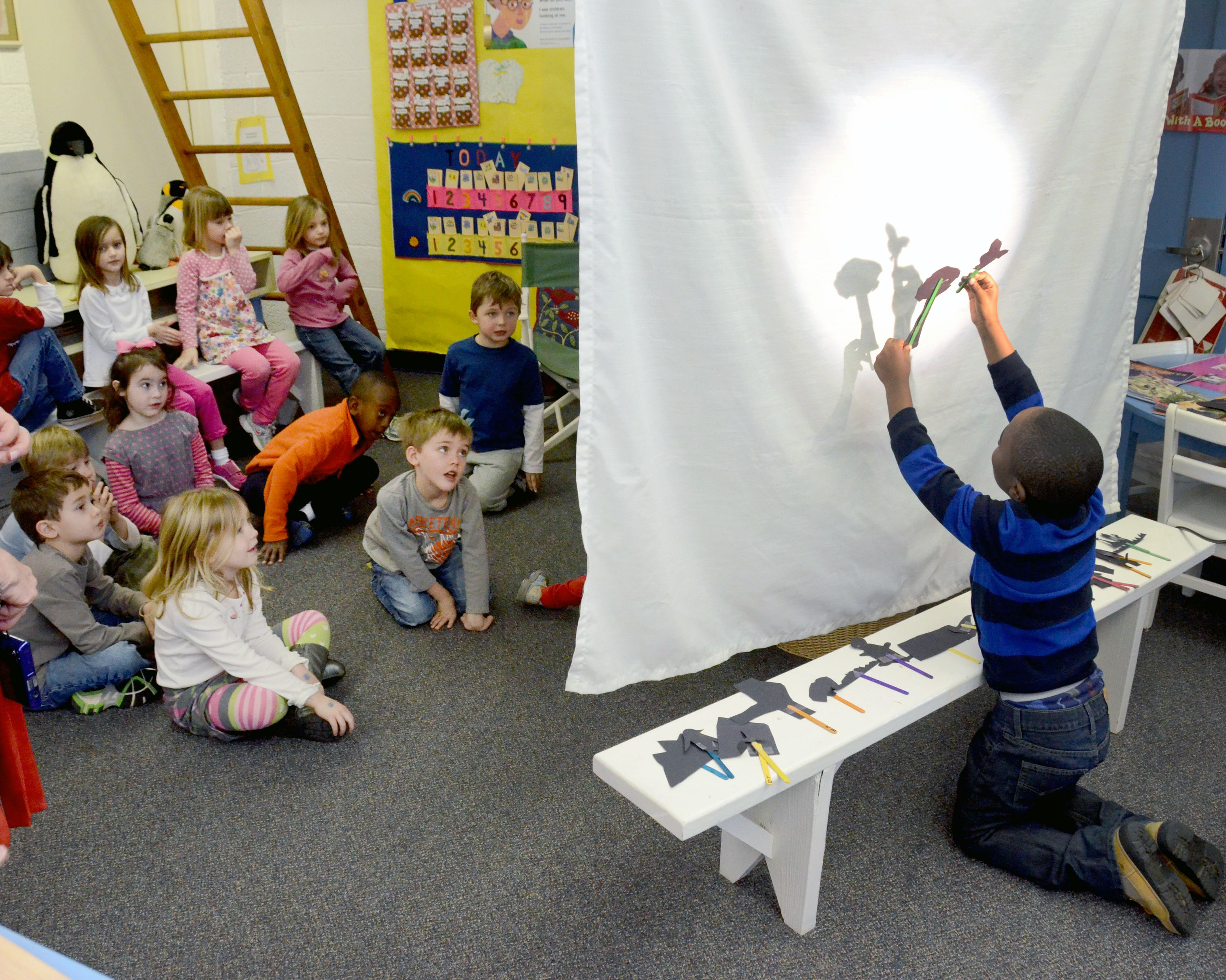 Kindergarteners Perform Puppet Shows After Learning About