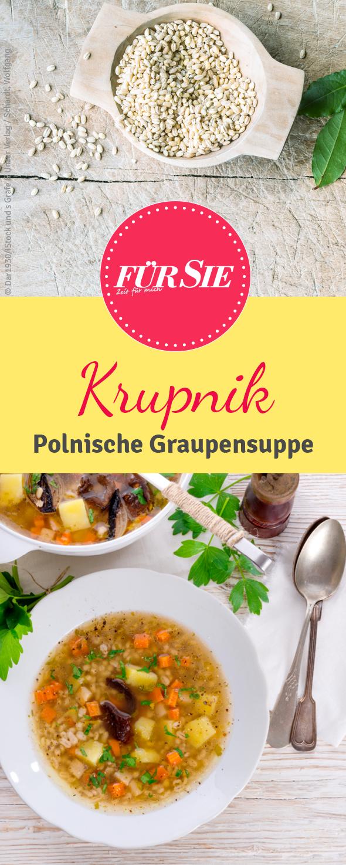 Krupnik - Polnische Graupensuppe