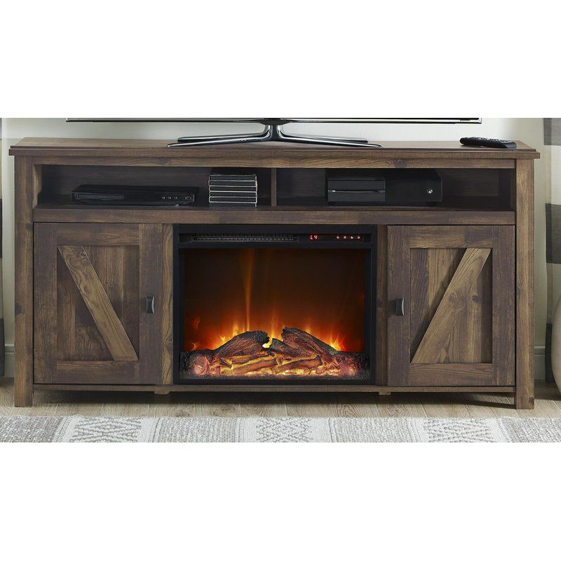 Whittier Tv Stand For Tvs Up To 60 With Electric Fireplace Included Fireplace Tv Stand Electric Fireplace Tv Stand Wood Burning Fireplace Inserts