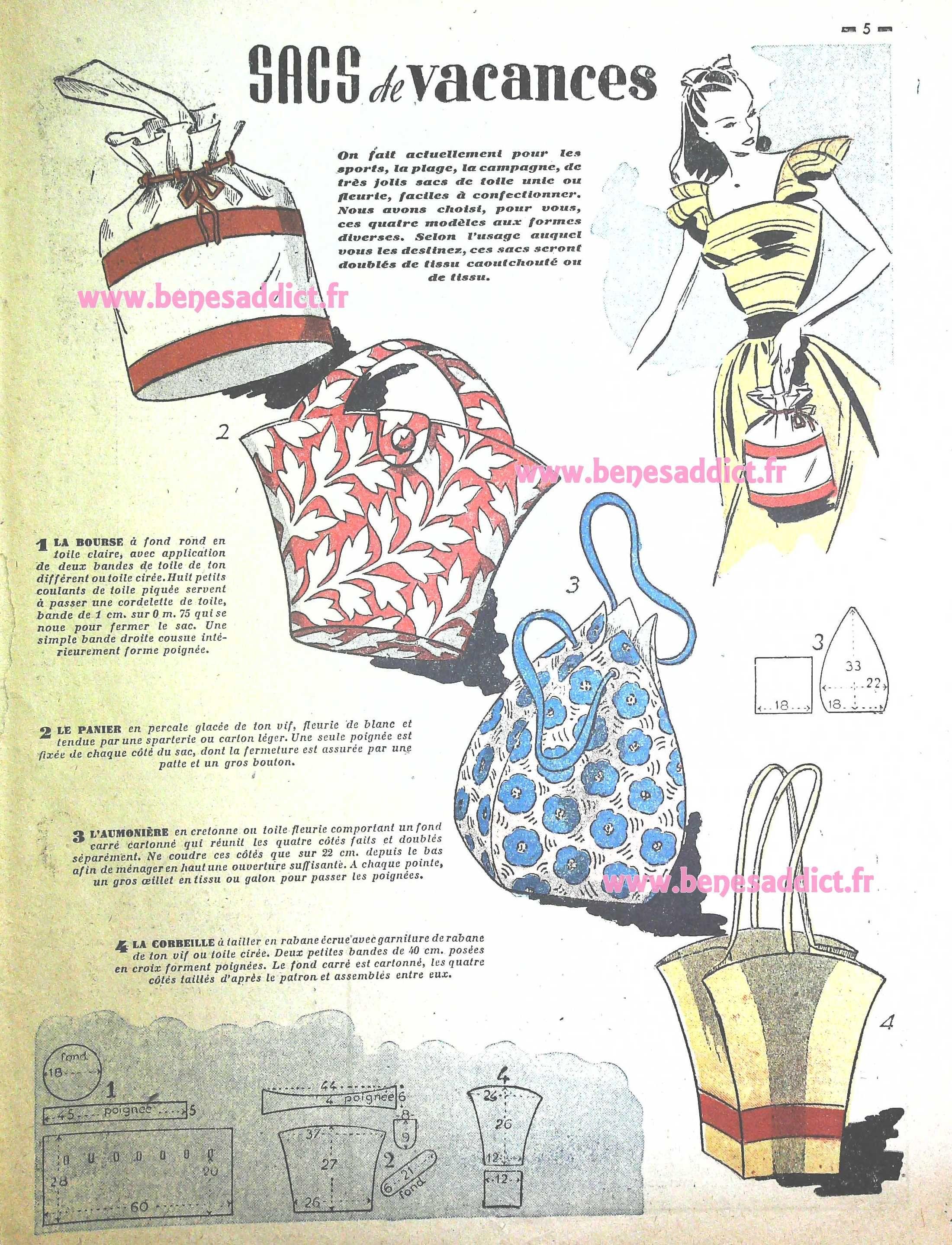 45-Patrons-gratuit-couture-vintage-accessoires-et-vetement-1948-free ...