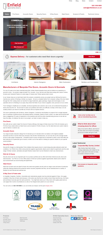 Visit Website //.enfielddoors.co.uk Client background Enfield doors have been manufacturing bespoke doors for over 30 years. & Visit Website: http://www.enfielddoors.co.uk Client background ...