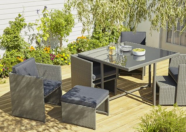 Salon de jardin Karaya Blooma | Meubles pas cher | Outdoor furniture ...