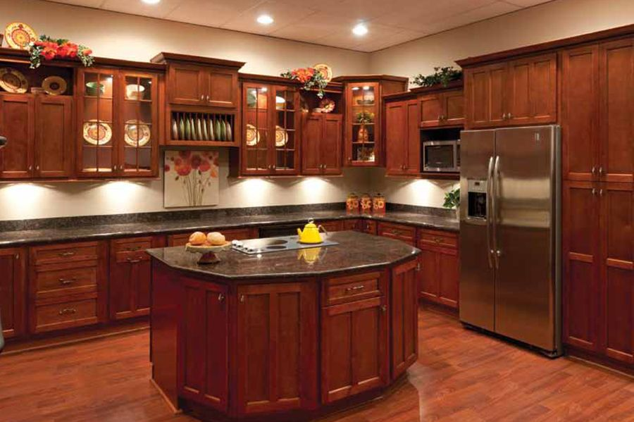 Discount home improvement outlet guaranteed lowest prices for Cherry wood kitchen cabinets price
