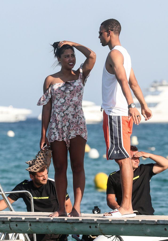 Ayesha and stephen curry celebrate their 5 year wedding photo of ayesha and stephen curry celebrate their wedding anniversary on a yacht in st junglespirit Choice Image