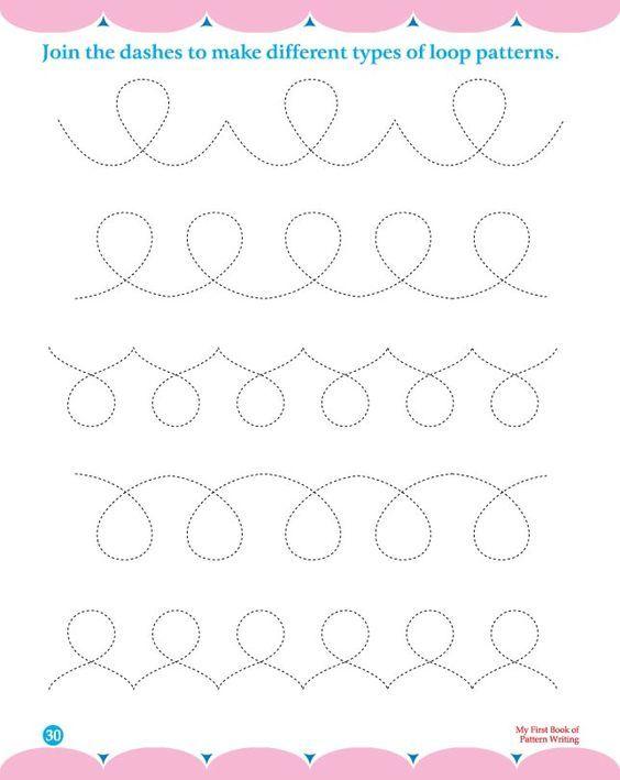 Pattern Worksheets Line Pattern Worksheets Precursive Handwriting