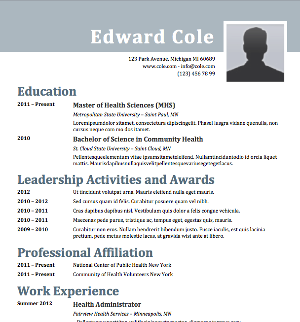 Free Resume Download Steely  Microsoft Word Format  Free Resume