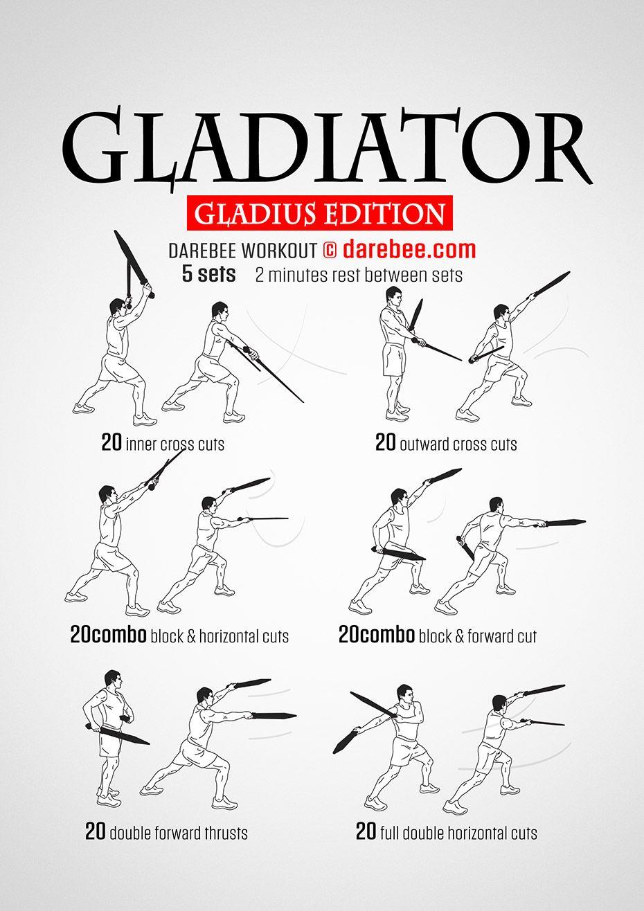 Gladiator gladius workout martial arts workout martial
