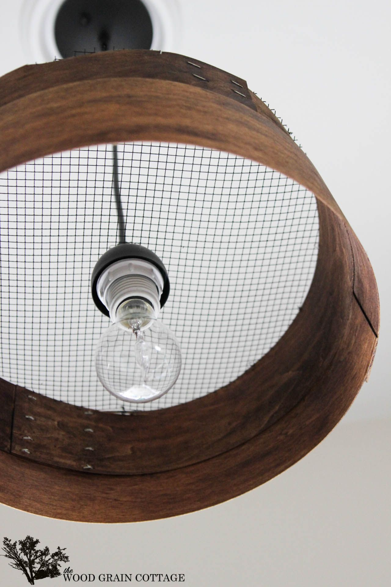 Knock Off Grain Sieve Light Fixture | Lampadari, Luci e Lampade